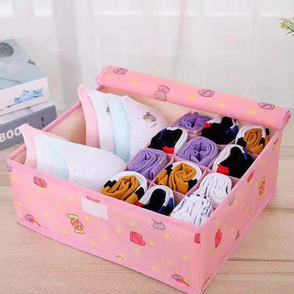 Heart Candies Printed Clothes Storage Box - Pink