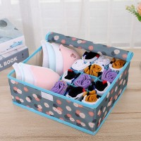 Floral Printed Clothes Storage Box - Blue