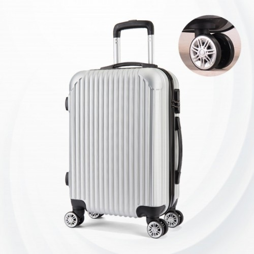Protective Hard Case Traveler Hand Carry Luggage - Silver