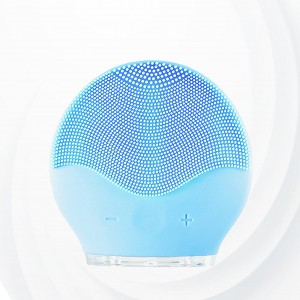 Electric Facial Cleanser Silicone Massage Brush - Blue