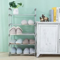 Five Layers Shoe Organizer Multi Purpose Shoes Rack - Gray