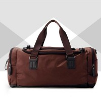 Fitness Tide Leather Large Capacity Travel Bags - Brown