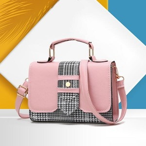 Magnetic Closure PU Leather Messenger Bags - Pink