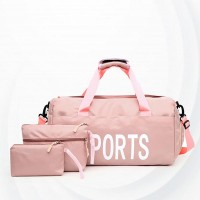 Sports Fitness Waterproof Training Yoga Bags Set - Pink