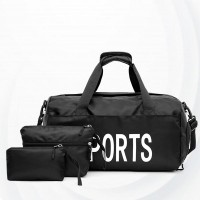 Sports Fitness Waterproof Training Yoga Bags Set - Black