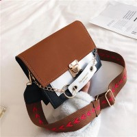 Square Shaped Trendy Women Messenger Bag - Brown