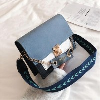 Square Shaped Trendy Women Messenger Bag - Blue