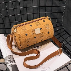 Printed Women Casual Phone Coins Messenger Bags - Brown