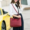 Solid Pattern Casual Female Handbags - Red