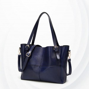 Synthetic Leather Female Handbags - Blue