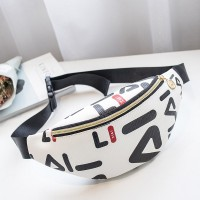 Trendy Letters Printed Cross-body Women Bags - White