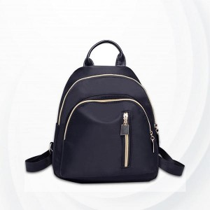 Dual Compartments Small Casual Backpacks - Black