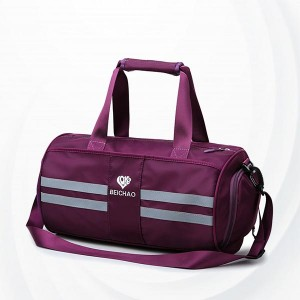 Wet Dry Separation Fitness Female Travel Bags - Purple
