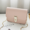 Synthetic Leather Buckle Messenger Bags - Pink