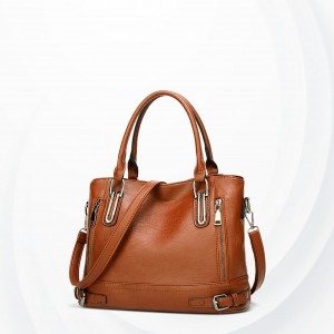 Formal Synthetic Leather Shoulder Bags - Brown