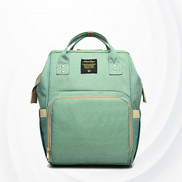 Maternity Multi Pockets Baby Care Mother Bags - Green