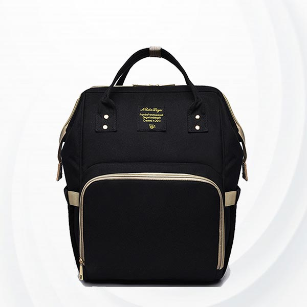 Maternity Multi Pockets Baby Care Mother Bags - Black