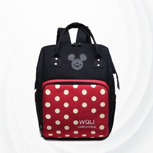 Polka Dots Zipper Separate Section Mum Bags - Red