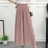 High Waist Loose Asymmetric Wide-leg Trousers - Pink