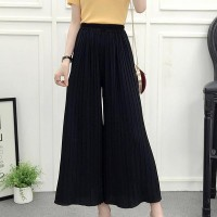 High Waist Loose Asymmetric Wide-leg Trousers - Black