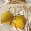 Sports Wear Sexy Wear Strap Bra - Yellow