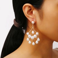 Pearl Tassel Fancy Party Wear Earrings Set