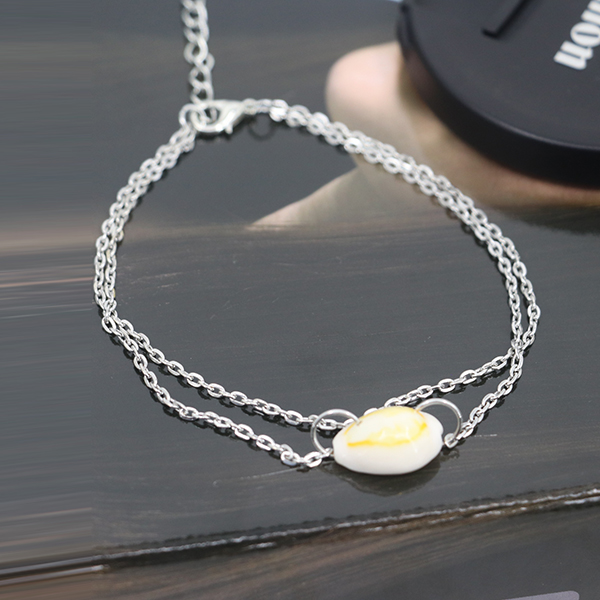 Sea Shell Casual Wear Silver Plated Anklet - Silver