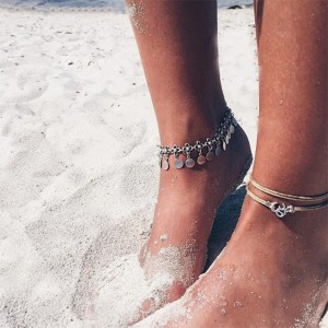 Religious Thread And Chain Beach Wear Anklet