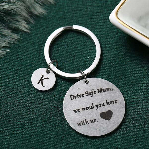 Gifts For Mothers Alphabetic Name Keychain - K