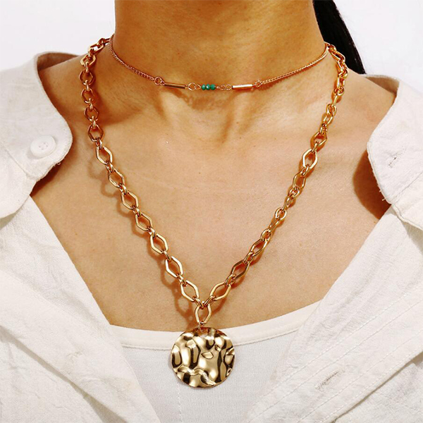 Rope Chain Gold Plated Vintage Style Necklace
