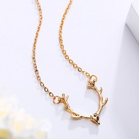 Deer Gold Plated Chain Necklace Pendant