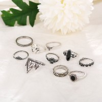 Ten Pieces Silver Plated Vintage Rings Set