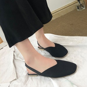 Shallow Flat Wear Strapped Up Women Flat- Black