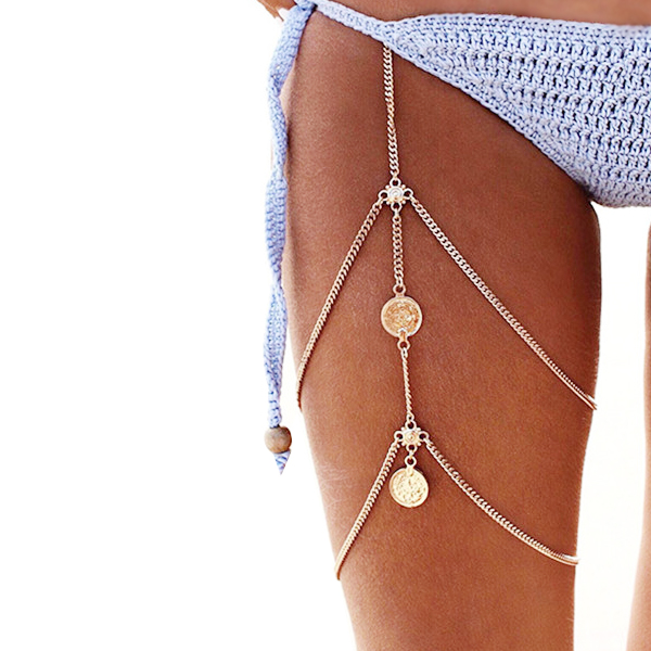 Bohemian Multilayer Gold Plated Thigh Chain