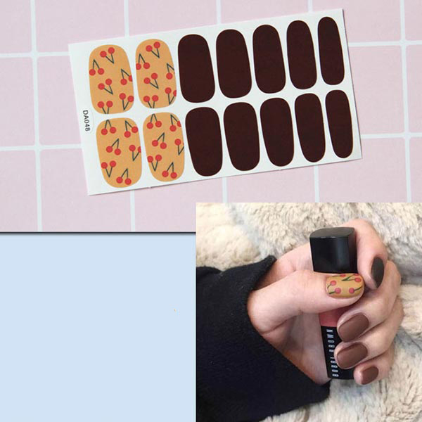 Contrast Duo Colors Fashion Nail Stickers - Fruits