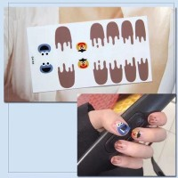 Cartoon Prints Easy Adhesive Women Nail Fashion Stickers