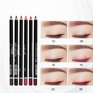 6 Colors Eyeliner Lip Eyebrow Eye-shadows Pencils - Pink