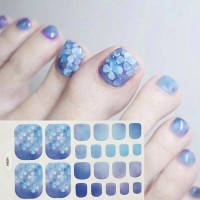 Floral Gradience Shiny Adhesive Nail Stickers