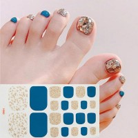 Glitter Shiny Contrast Unicorn Foot Nail Stickers