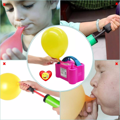 Electric Powerful Air Balloon Pump For Party - Pink
