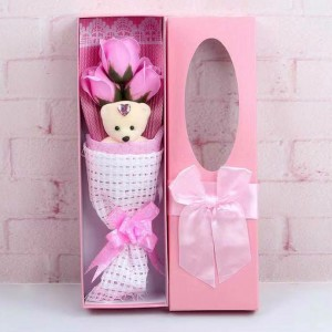 Rose Bouquet Valentine Christmas Surprise Gift Box - Pink