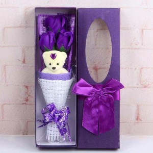 Rose Bouquet Valentine Christmas Surprise Gift Box-Purple