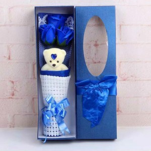 Rose Bouquet Valentine Christmas Surprise Gift Box-blue