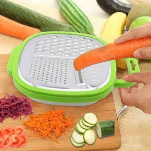 Multi Purpose Planer Fruit Vegetable Grater - Green
