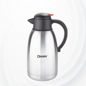 Stainless Steel Double Walled  Vacuum Jug 2 Liters - Silver