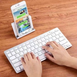 Universal Slim Wireless Bluetooth Mini Keyboard - Silver
