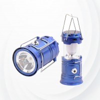 Camping Lantern  Usb Rechargeable Solar Energy Flashlight - Blue