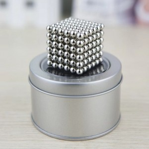 125Pcs 5mm Puzzle Toy Magic Magnetic Ball - Silver