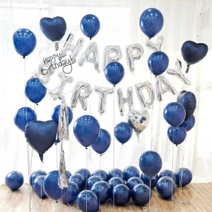 61 Pcs Birthday Party Decorations Letters Balloons Set - Blue