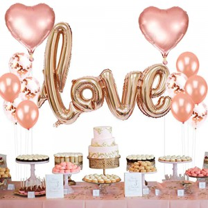 Love Balloon Wedding Decoration - Rose Gold